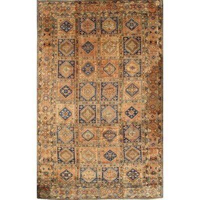 Persian Aliabad Yalameh Hand-Knotted Wool Rust Area Rug