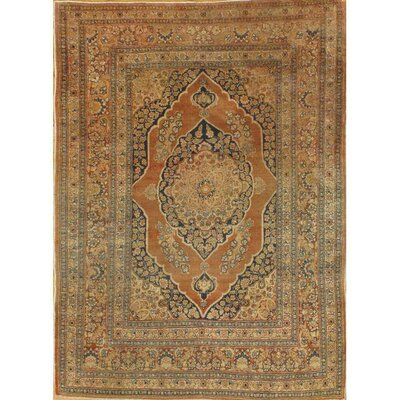 Persian Tabriz Haji Jalili Hand-Knotted Wool Rust/Gold Area Rug