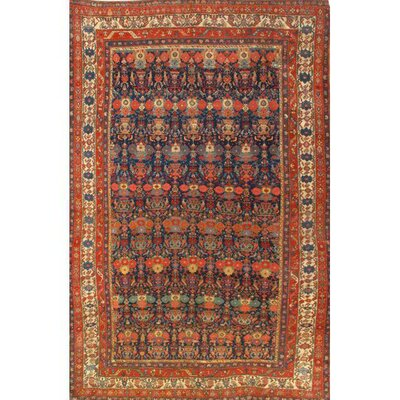 Bidjar Hand-Knotted Wool Red Area Rug