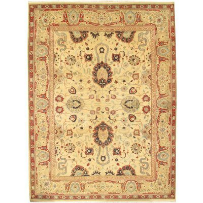 Sultanabad Hand-Knotted Wool Ivory Area Rug