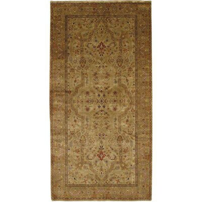 Persian Hand-Knotted Wool Beige/Gold Area Rug