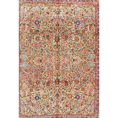 Persian Hand Knotted Wool Ivory/Red Area Rug