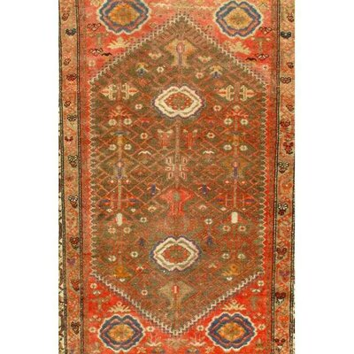 Persian Malayer Hand-Knotted Wool Light Brown Area Rug