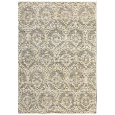 Farahan Hand-Knotted Wool Gray Area Rug