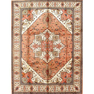 Persian Hand-knotted Wool Peach Area Rug