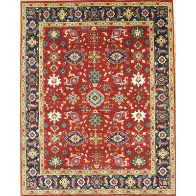 Mahal Hand-Knotted Wool Red Area Rug
