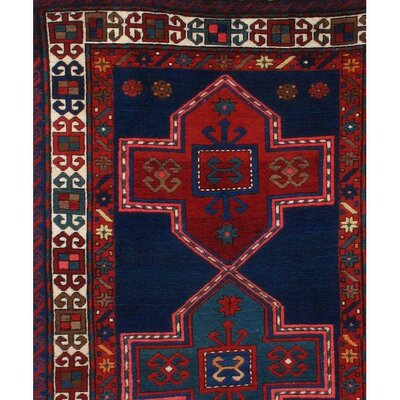 Kazak Lambs Hand-Knotted Wool Red Area rug