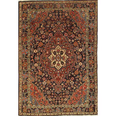 Persian Sarouk Hand-Knotted Wool Red Area Rug