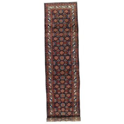 Persian Hamadan Hand-Knotted Wool Red Area Rug