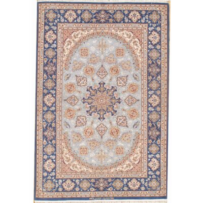 Isfahan Hand-Knotted Wool Blue Area Rug