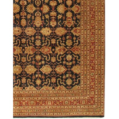 Sultanabad Hand-Knotted Wool Rust Area Rug