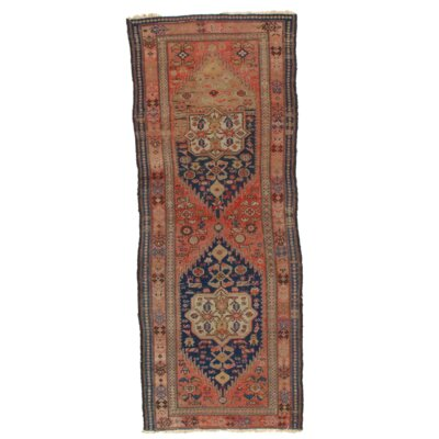 Persian Malayer Hand-Knotted Wool Rust Area Rug