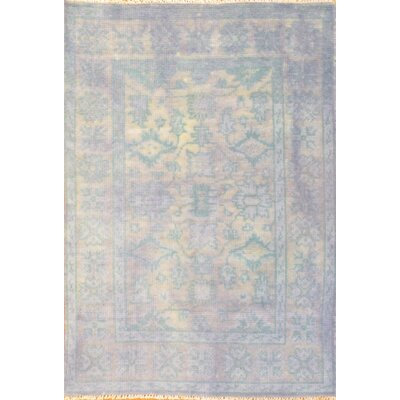 Overdyed Hand-Woven Wool Blue Area Rug D07879