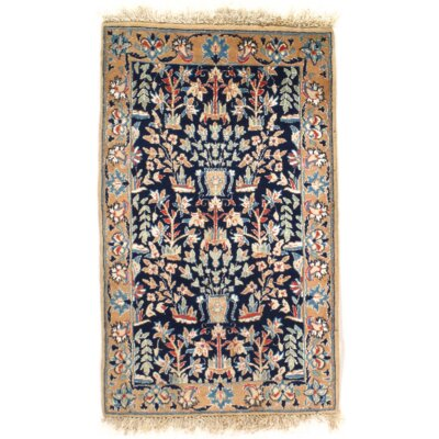 Persian Hand-Knotted Wool Ivory Area Rug