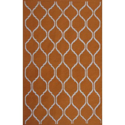Flat Weave Hand-Knotted Wool Brown Area Rug