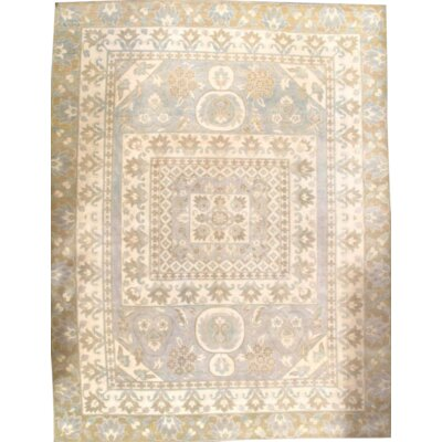Khotan Hand-Knotted Wool Ivory Area Rug