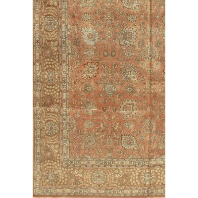 Persian Tabriz Hand-Knotted Brown Area Rug