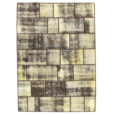 Persian Decorative Hand Knotted Gray Area Rug
