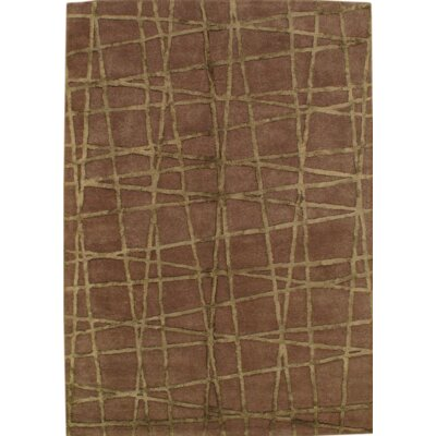 Modern Hand Knotted Wool Brown Area Rug