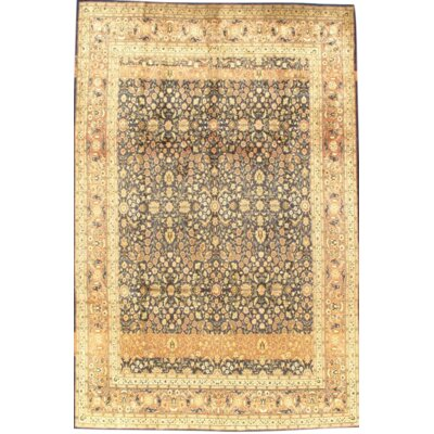 Original Turkish Herekeh Hand Knotted Wool Beige Area Rug