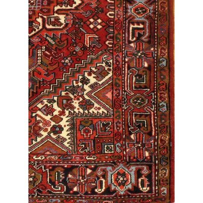 Persian Heriz Hand Knotted Wool Red Area Rug