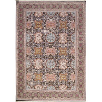 Persian Isfahan Hand Knotted Silk Blue/Pink Area Rug