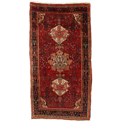 Persian Hand-Knotted Wool Rust Area Rug