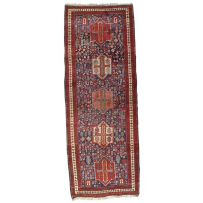 Persian Bidjar Koliaei Northwest Hand-Knotted Wool Blue/Red Area Rug