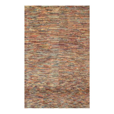 Fine Persian Gabbeh Hand-Knotted Wool Red/Blue Area Rug