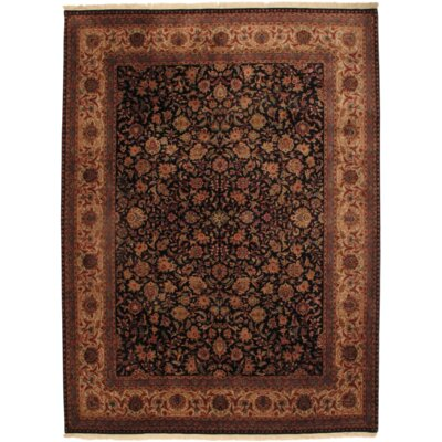 Indo Hand Knotted Wool Navy/Ivory Area Rug