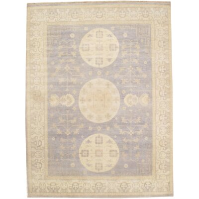 Hand Knotted Wool Gray/Ivory Area Rug