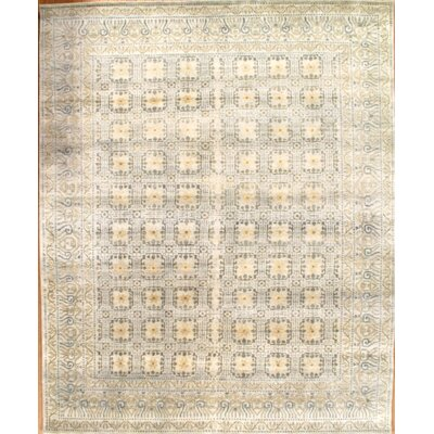 Khotan Hand Knotted Wool Beige Area Rug