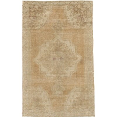 Vintage Turkish Oushak Hand Knotted Wool Gold Area Rug