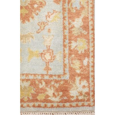 Turkish Oushak Hand Knotted Wool Rust Area Rug