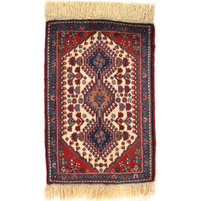 Persian Tribal Hand Knotted Wool Rust Area Rug