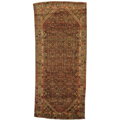 Antique Persian Hand Knotted Wool Brown Area Rug