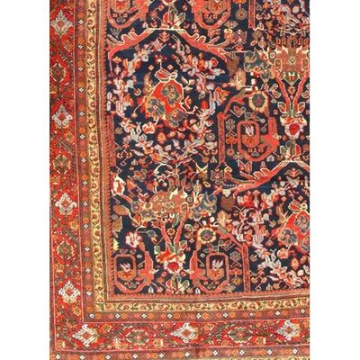 Original Persian Sultanabad Mostofi Hand Knotted Wool Rust Area Rug