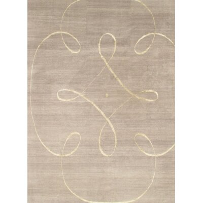 Modern Hand Knotted Wool Beige Area Rug