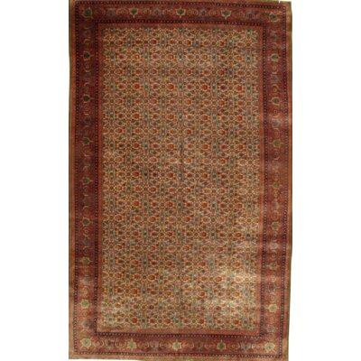 Vintage Turkish Hand Knotted Wool Rust Area Rug