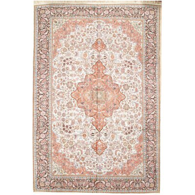 Kashmir Hand Knotted Wool Ivory Area Rug
