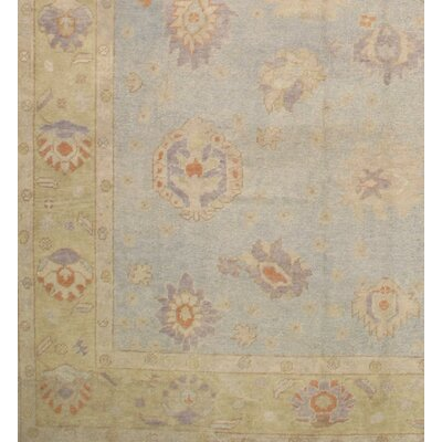 Turkish Oushak Hand Knotted Wool Light Ivory Area Rug