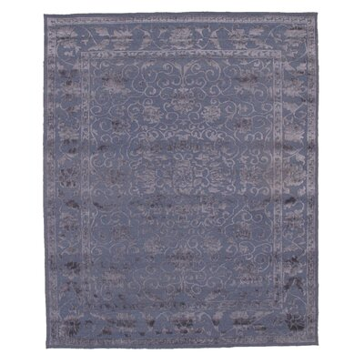Modern Hand Knotted Silk Purple Area Rug