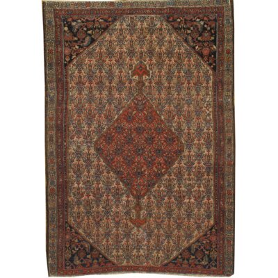 Original Persian Malayer Antique Hand Knotted Wool Brown Area Rug