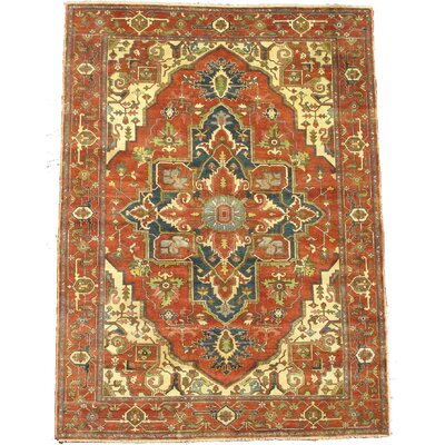 Serapi Hand Knotted Wool Red Area Rug