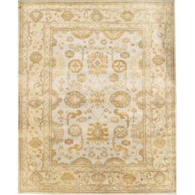 Turkish Hand Knotted Wool Gray/Beige Area Rug
