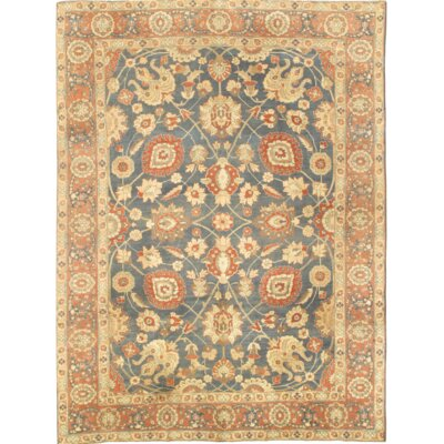 Persian Hand Knotted Wool Light Blue Area Rug