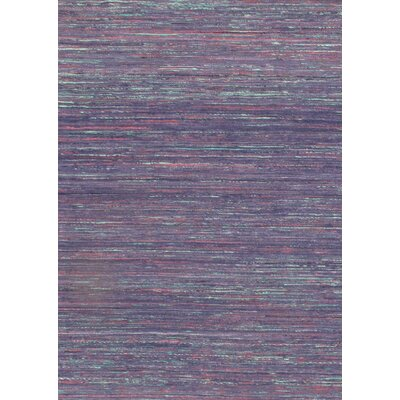 Hand Knotted Silk Purple Area Rug