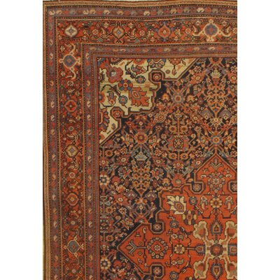 Persian Malayer Hand Knotted Wool Rust Area Rug