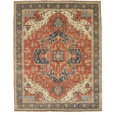Fine Serapi Hand Knotted Wool Brown/Beige Area Rug