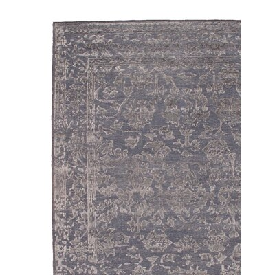 Modern Hand Knotted Silk Gray Area Rug